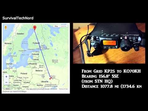 5 Watt Range Test | 1077miles - 1734km | Yaesu FT-817 Bugout Radio