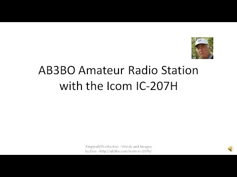 AB3BO Amateur Radio with the Icom IC-207H