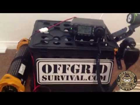 Emergency Off Grid Communication: Ham Radio (icom ic-703) running off Solar Charger