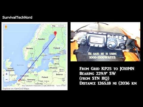 5 Watt Range Test | 1265miles - 2036km | Yaesu FT-817 Bugout Radio