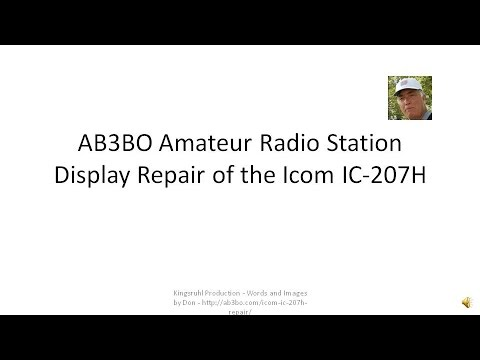 Icom IC-207H UHF/VHF Amateur Radio Display Repair