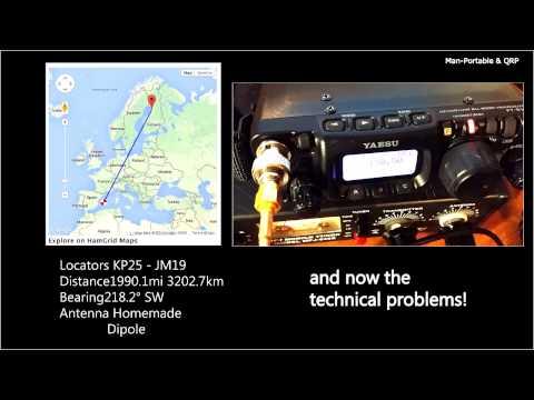 QRP QSO OH8 - EA6 3202km | Yaesu FT 817ND