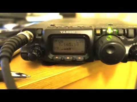 QRP Yaesu FT 817 - 5 watts and END FED antenna