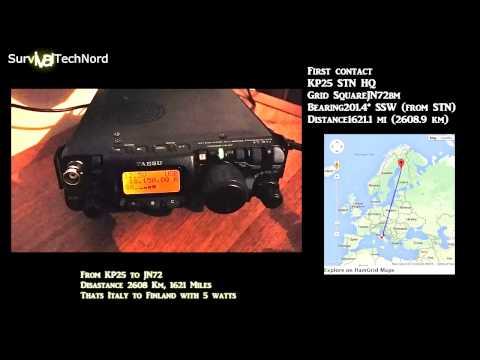 1621 Miles 2608km 5w Range Test | Yaesu FT-817 Bugout bag Radio