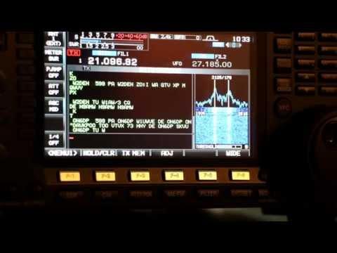 ICOM IC-7600 Setup for RTTY, Demo HD