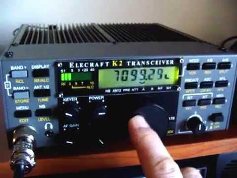 """Elecraft K2/100 con """"EFHW home made""""."""