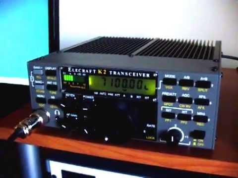 """ELECRAFT K2/100 con """"EFHW home made"""""""