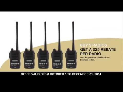 Icom Business Two Way Radio Rebate Promotion 2014