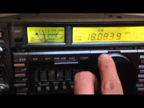 Icom 735 - SSB and CW Demo - 100 Watt TX - IW2NOY