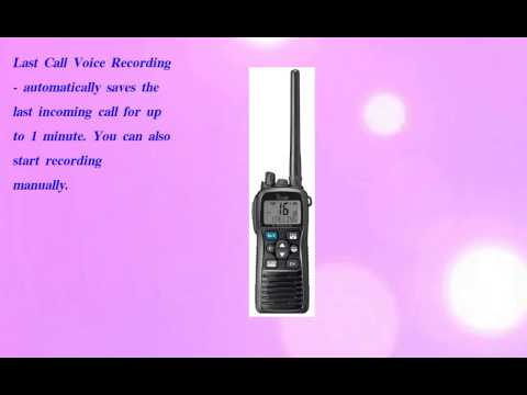 Icom Professional VHF Marine Transciever  Black