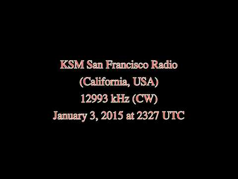 KSM San Francisco Coastal Radio (San Francisco, California, USA) - 12993 khz (CW)