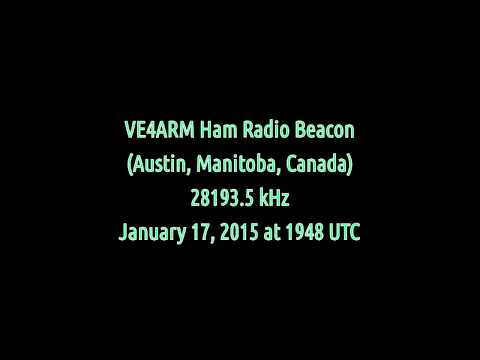 VE4ARM Ham Radio Beacon (Manitoba, Canada) - 28193.5 kHz