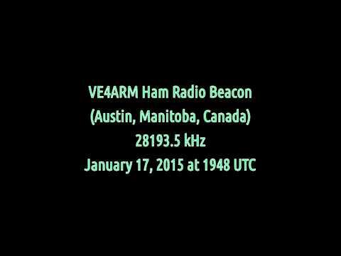 VE4ARM Ham Radio Beacon (Manitoba, Canada) - 28193.5 kHz