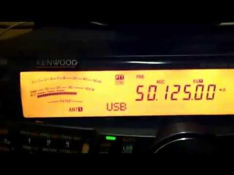 Feb 18, 2015 FG/F6ITD CA3SOC HAM RADIO KENWOOD TS-2000 50 MHZ SIX METER HAMRADIO