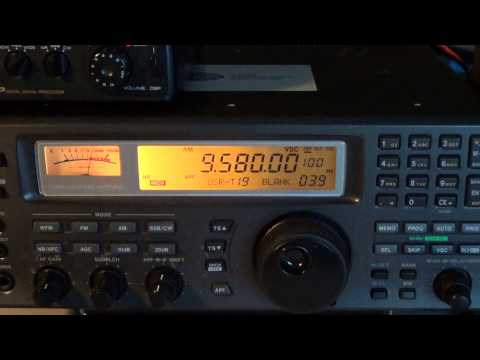 Radio Australia on 9580 Khz Shortwave on icom ic r 8500