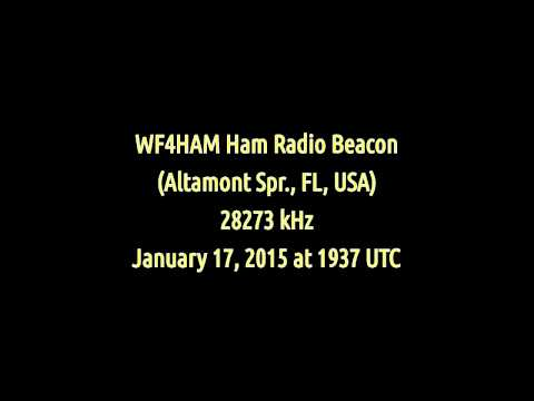 WF4HAM Ham Radio Beacon (Altamonte Springs, Florida, USA) - 28273 kHz (CW)