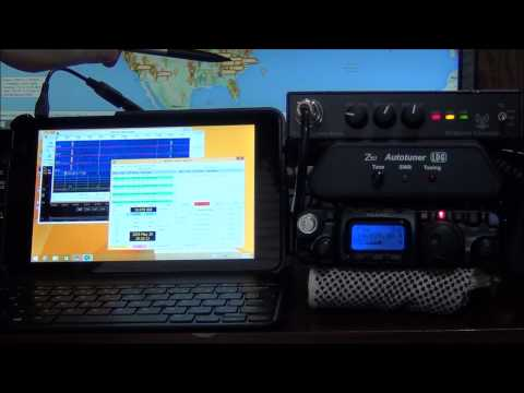 Digital QRP with a Windows 8.1 Tablet useing a Yeasu FT-817   Ready for the field - AF5DN