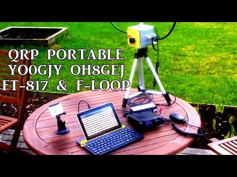 QRP Portable QSO YO9GJY OH8GEJ 17m | FT-817 F-Loop