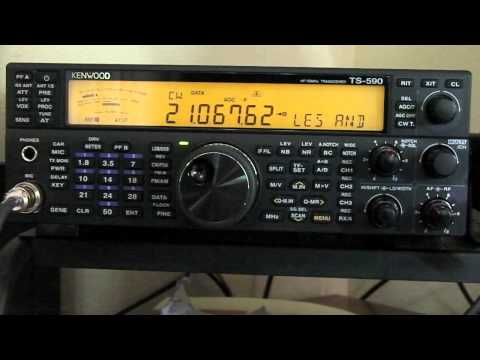 How To Decode A CW Message With The Kenwood TS 590SG 3-22-2015