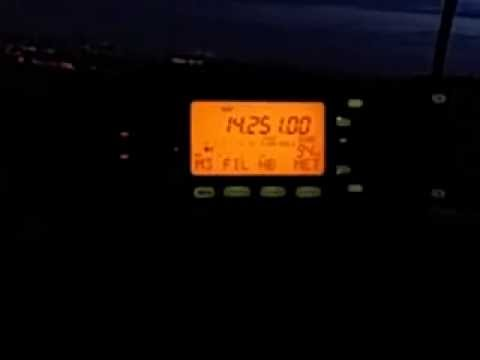 My Friend Mac working 9A9A in Croatia on my Icom IC-703