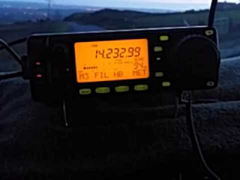 Icom IC-703 mobile from Winter Hill in Lancashire