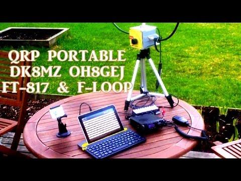 QRP Portable QSO DK8MZ OH8GEJ 20m | FT-817 F-Loop
