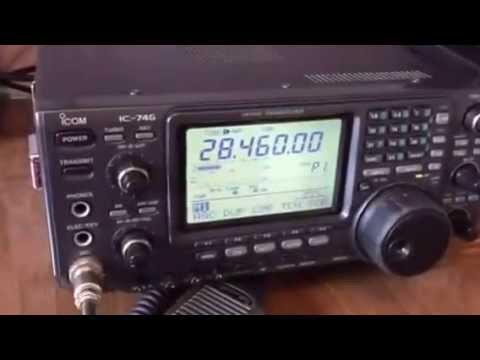 Demonstração Radio Icom IC-746 - PY2XM
