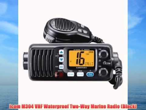 Icom M304 VHF Waterproof Two-Way Marine Radio (Black)