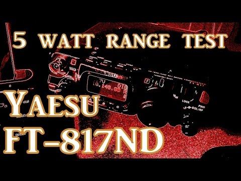 Yaesu FT-817 Range Test   639miles - 1029km