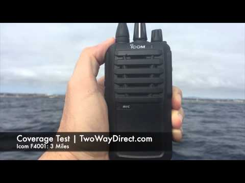 Icom IC-F4001 UHF Radio Line-of-Site Coverage Test