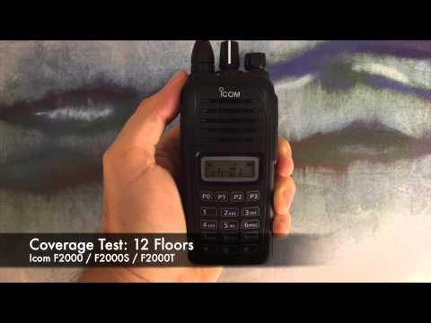 Radio Coverage Test: Icom F2000 / F2000S / F2000T (Inside Building)