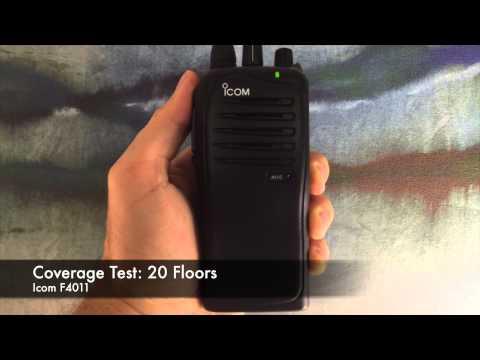 Radio Coverage Test: Icom F4011 (Inside Building)