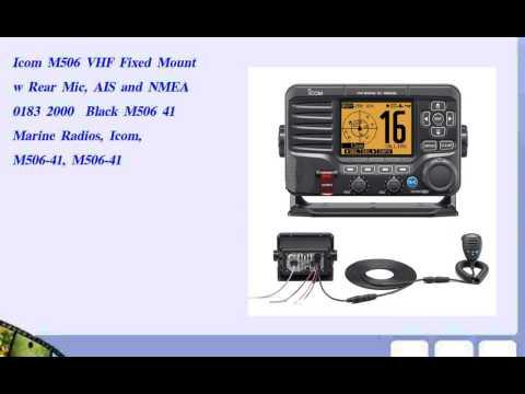 Icom M506 VHF Fixed Mount w Rear Mic  AIS and NMEA