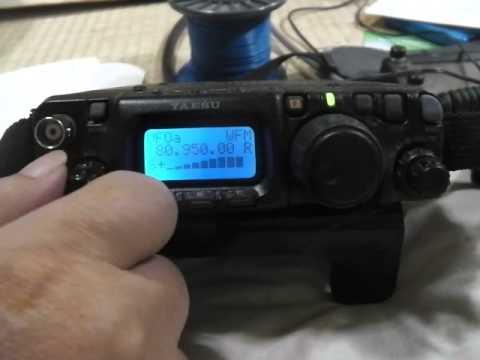 FT-817ndでのFM受信の様子