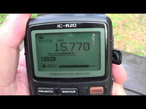 Radio France International 15770 Khz on Icom IC R20