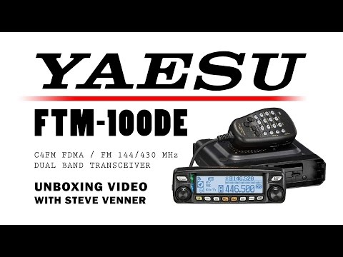 Yaesu FTM-100 Unboxing with Steve Venner at ML&S