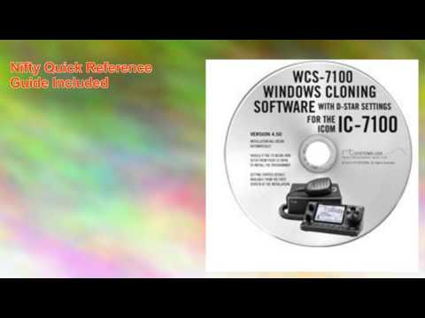 Icom Ic7100 Radio Wcs 7100 Programming Software Nifty Guide