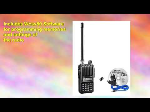 Icom V80hd Handheld Radio and Rt Systems Wcsv80 Usb Cable
