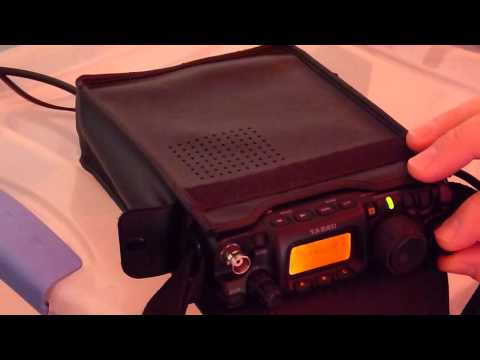 Field Day 2015 - QRP with the Yaesu FT-817 in the Pouring Rain