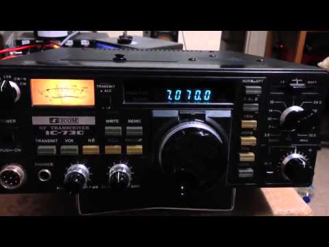Amateur Radio: Icom IC-730 - Quick Test