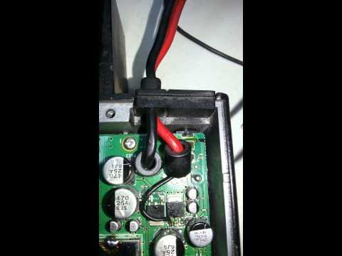 tela piscando o canal icom ic121