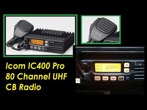 Icom IC400 Pro 80 Channel UHF CB Radio Australian pre programmed & what it is worth