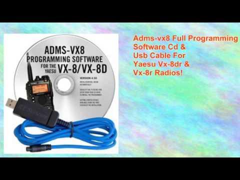 Yaesu Vx8dr Handheld Radio Yaesu Admsvx8 Programming Software and Cable
