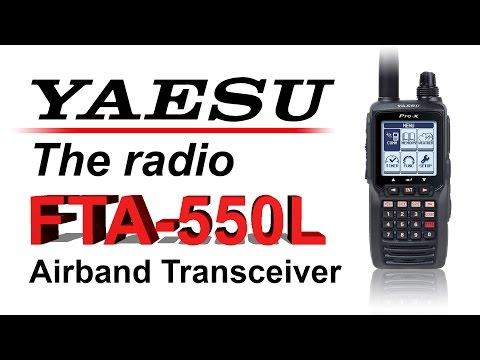 Yaesu FTA550L Handheld Airband Transceiver and ML&S