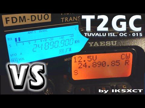 T2GC Yaesu FT817 vs Elad FDM-DUO by ik5xct