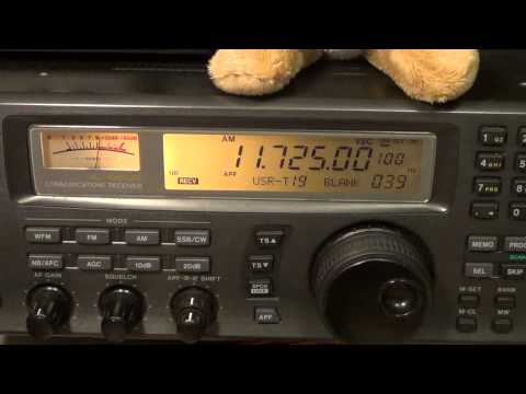 Radio New Zealand 11725 Khz Shortwave 0630 UT icom ic r8500