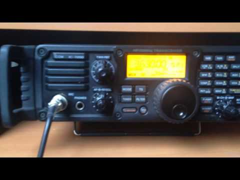 ICOM 7200 /  KENWOOD TM V71 / ON3 IBZ HAM RADIO emergency station  80m HF test