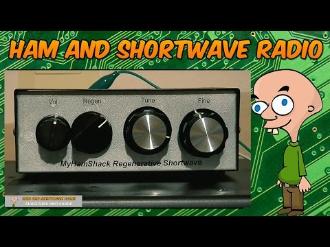 Shortwave - Comparing A Home Made REGENERATIVE Receiver with a Yaesu FRG-100.