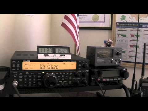 Working The Alpha EZ Military Antenna On 6 Meters With The Kenwood TS 590SG 6- 17- 2015