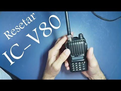 Reset radio Icom IC-V80 | Padrão de fabrica